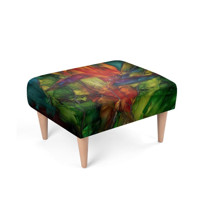Bird of Paradise Footstool