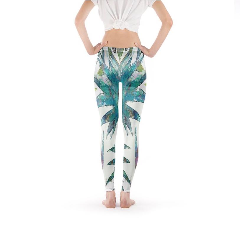 Tropical Breeze Impressionist Leggings
