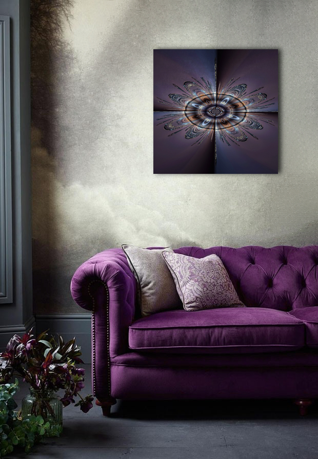 Gilded Peacock abstract artwork inspired by the City of London,available as alu-dibond and metallic fine art prints