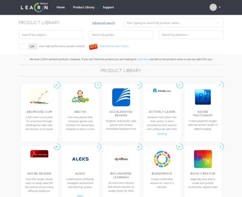 LearnPlatform - EdTech Library