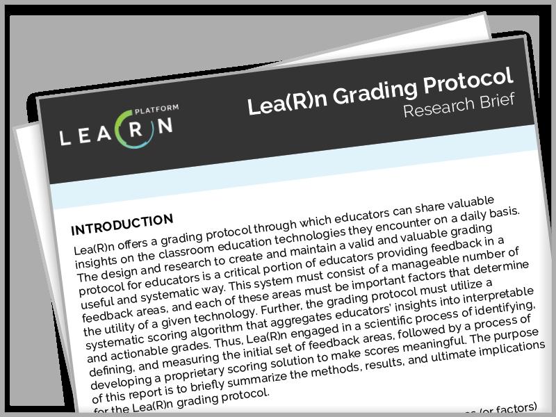 LearnPlatform, Research Brief & Rubric, LearnTrials