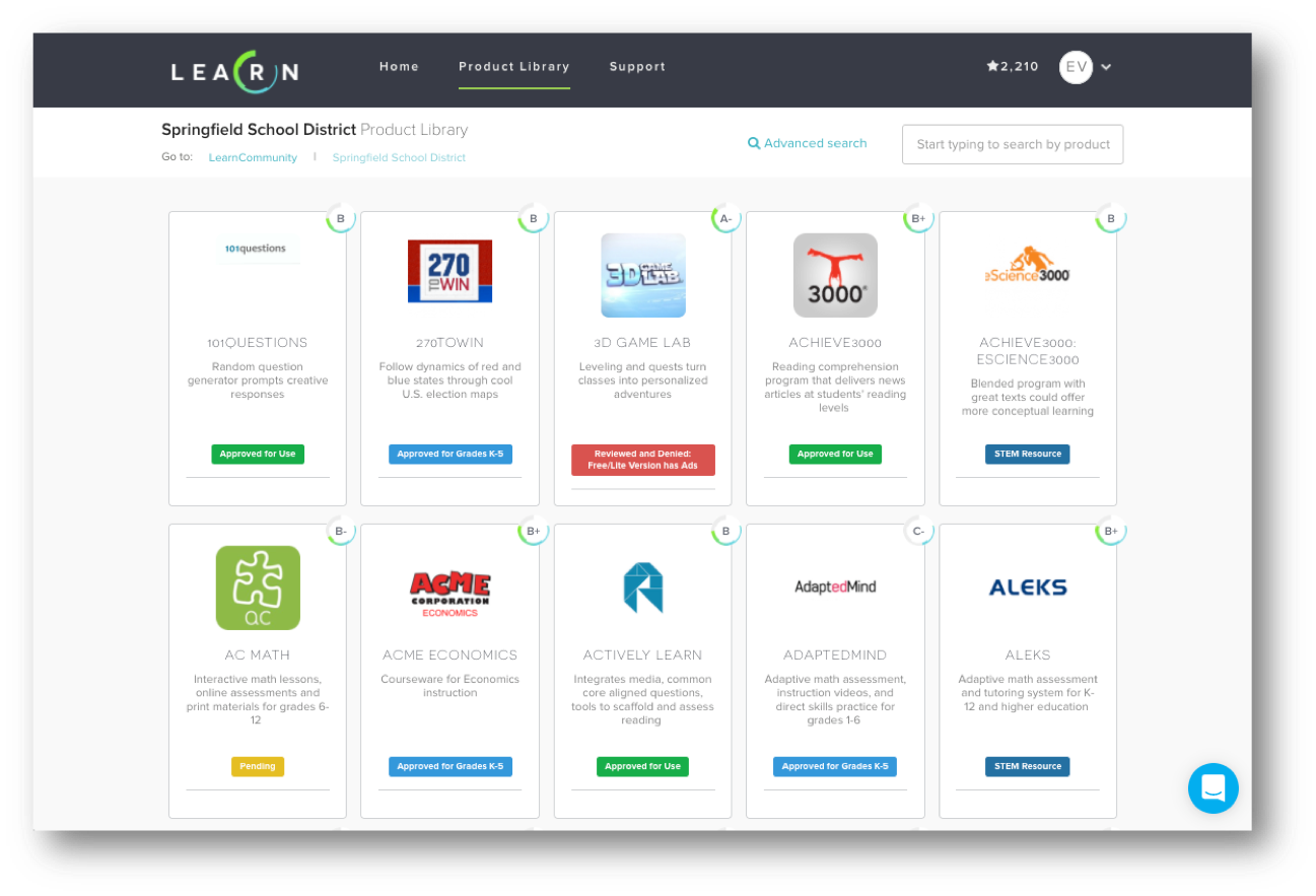 Label edtech tools with custom approval statuses to ensure school or district-wide communication and compliance.