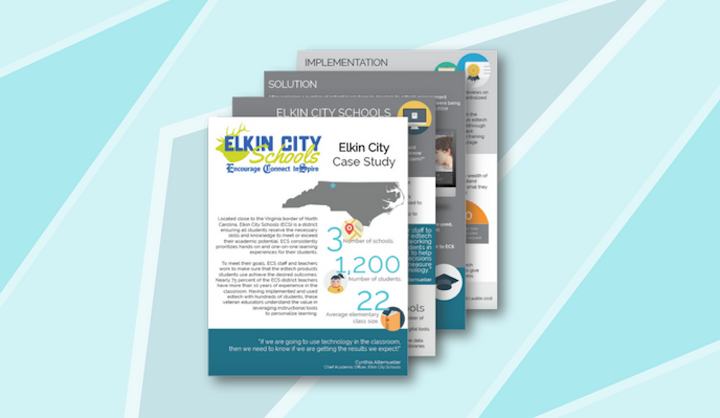 #9: Elkin City Schools Redefines EdTech Management to Personalize Learning - The first case study we released in 2018 featured North Carolina-based Elkin City Schools. Check out this blog post for a quick highlight on their journey. (Side note: If you want to see our entire case study collection, check it out here or visit the LearnPlatform case studies & published research page for more.)