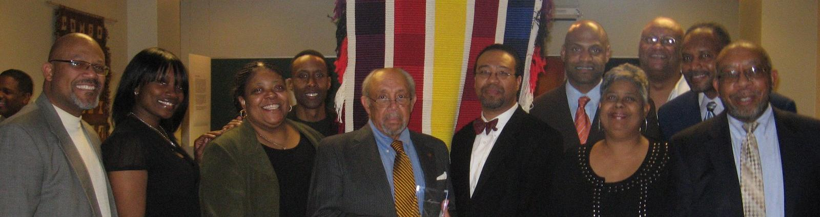 Roger Margerum (center) receives NOMA Detroit Lifetime Achievement Award (April 16, 2009)
