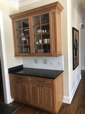 Gorg Complete Wood Brookhaven Kitchen Cabinets Granite Sub Zero Stainless Steel Appliances Butlers Pantry Island Little Green Kitchens