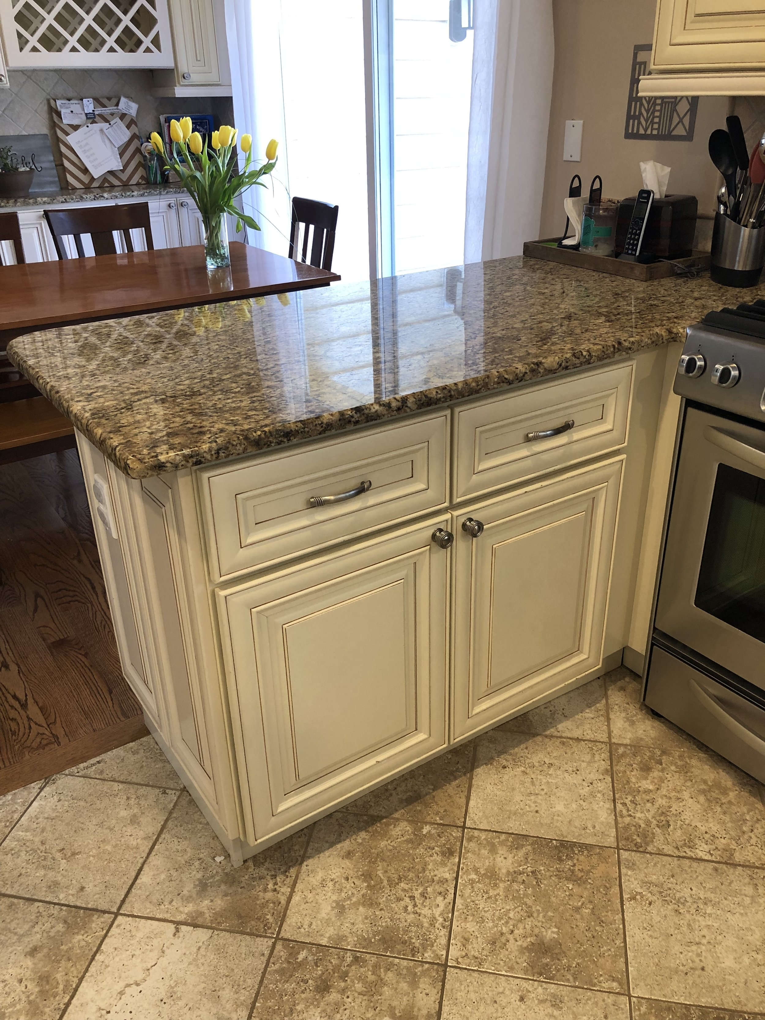 Custom White Wood Kitchen Cabinets Complete Stainless Steel Appliances Kitchen Aid Granite Countertop Little Green Kitchens