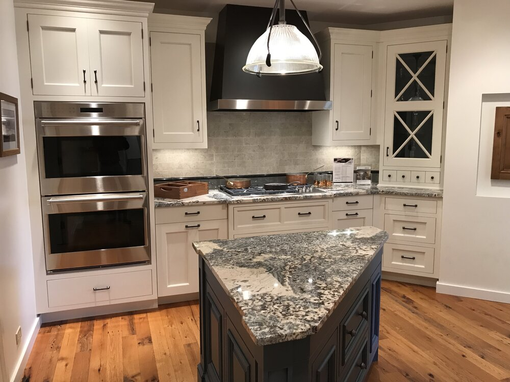 New Hampshire Custom White Shaker Inset Cabinetry Kitchen Blue Island Wood Quartzite Counter Countertop 20000 Retail Little Green Kitchens