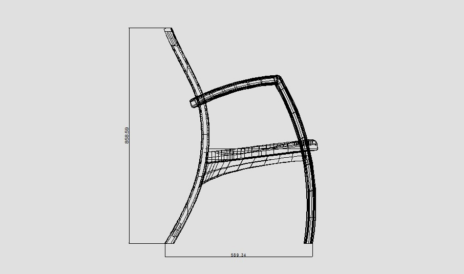 Outline sketch of the Spilt-Back Armchair