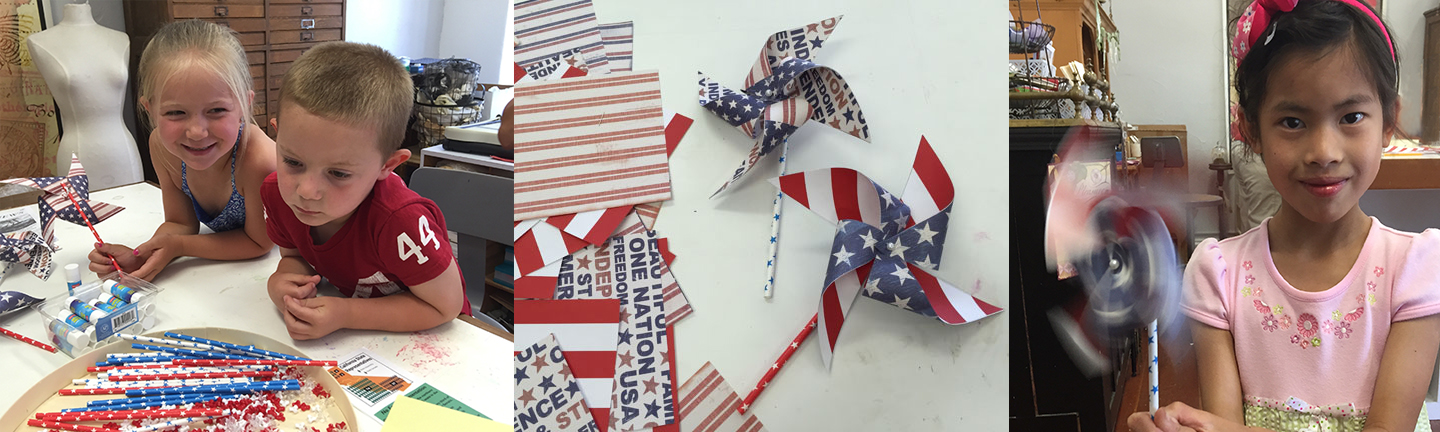 "4th of July, Free ""Make and Take"" - Patriotic Pinwheels"