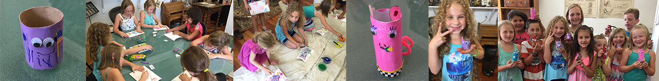 """Charlie's Birthday Party - """"Make and Take"""" Upcycled Painted Animals"""