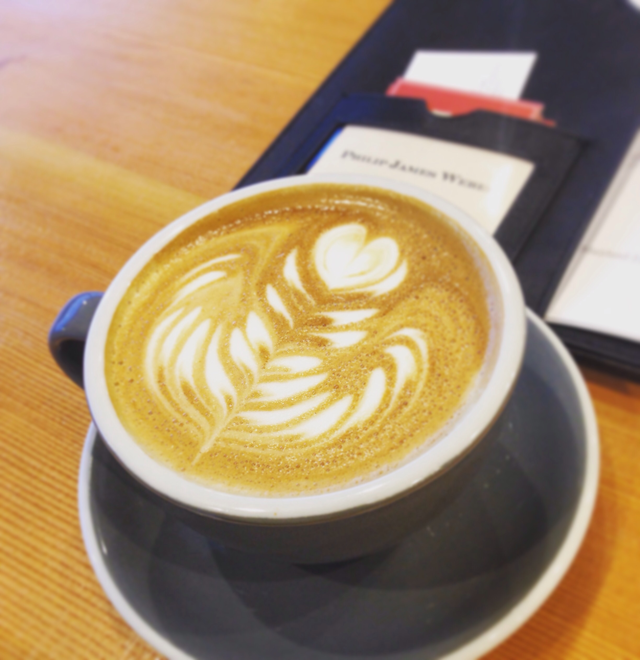 The latté from Ceremony Coffee Roasters