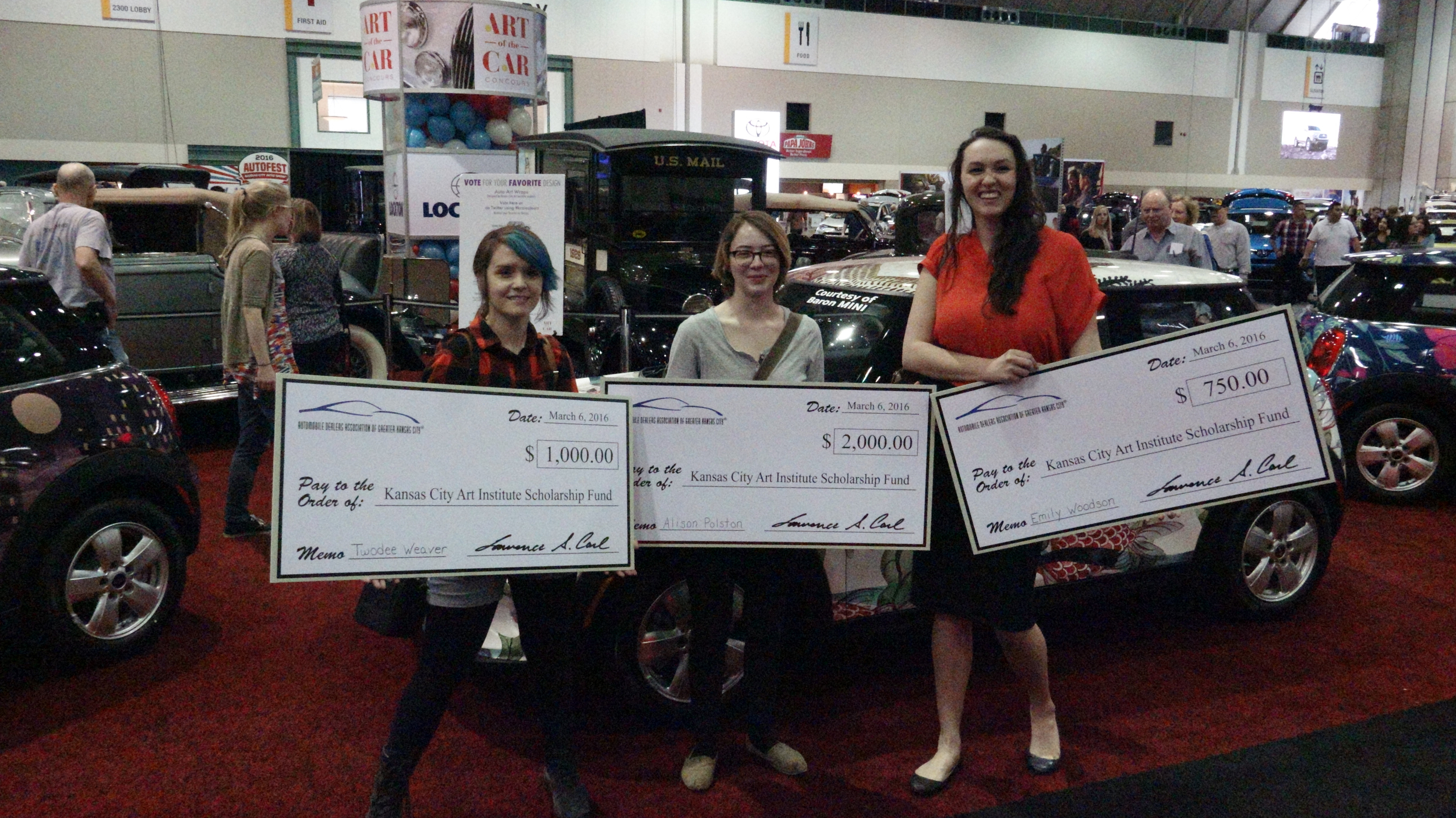 The three winners. From left to right, Twodee Weaver, Alison Polston and Emily Woodson.
