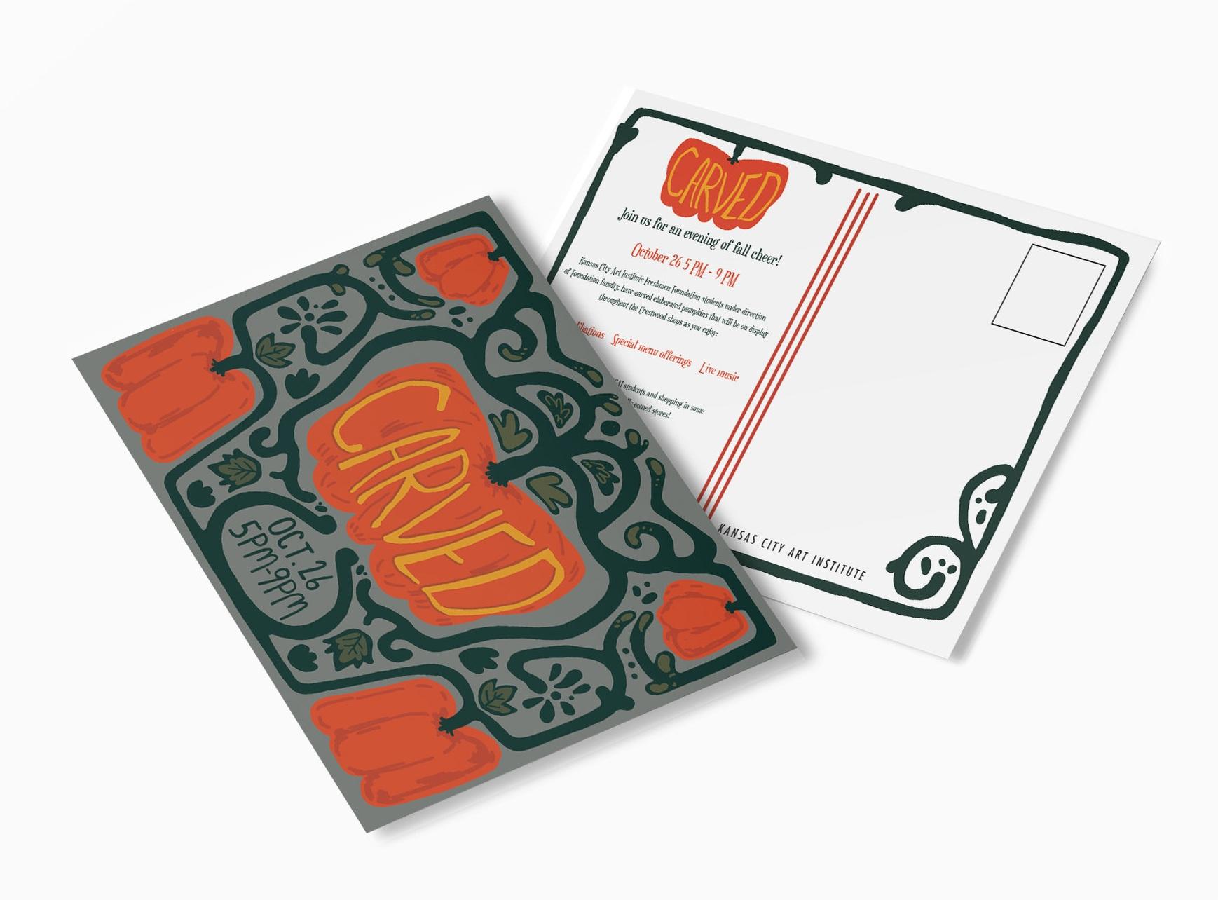 Postcard design by August DeMarea