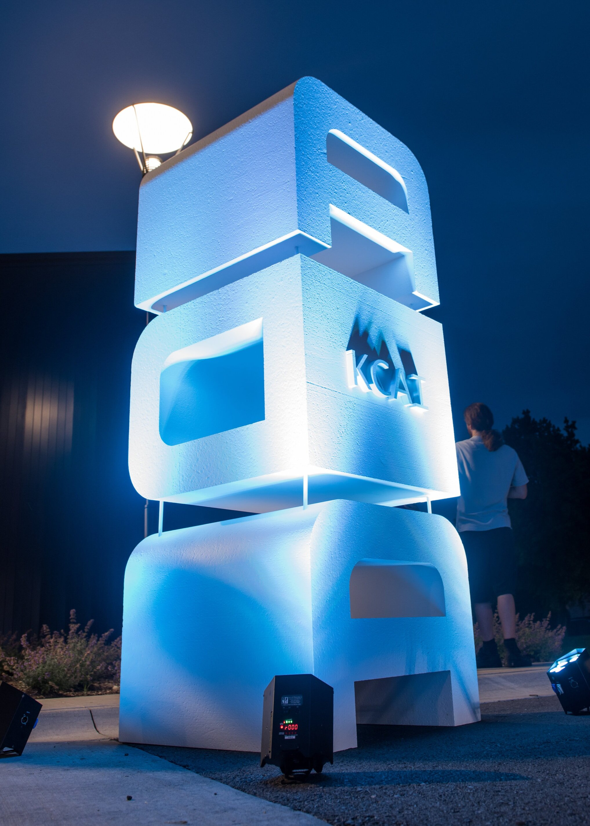 The ADA Logo (design by Eric McLaughlin) was used along with other invite design elements to inform sculptural installations like the one shown above that enhanced the event experience.