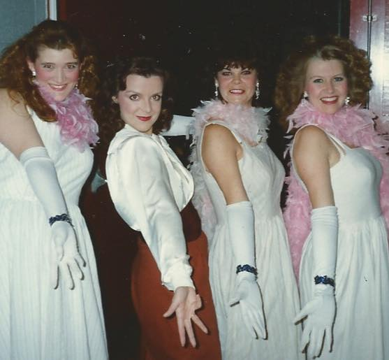As The Narrator with Valerie Hawkins, Helen Pitt-Matthews, Susan Greenfield in  Joseph and The Amazing Technicolour Dreamcoat, 1990.