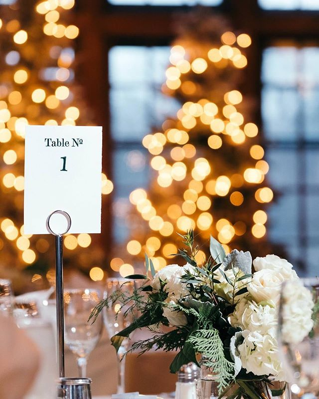 It's crazy to say, holiday wedding season is fast approaching! We're so excited to see all of our event's details come to life! What's your favorite wedding season? . . . 📸: @timandmadie