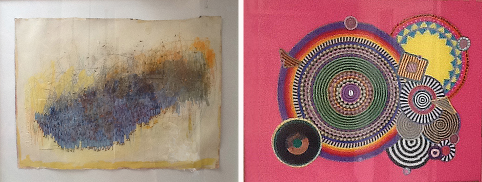 From his private collection, works by  Francks Francois Deceus and  Xenobia Bailey .