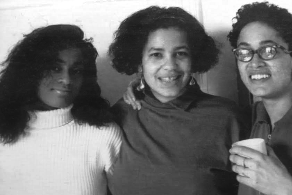 """Delissa  Reynolds, Donna Gorsline and Marpessa Dawn Outlaw, circa early 90's. """"The three of us became inseparable."""" The duo became a trio when Delissa and Marpessa met the vibrant Donna as she worked the door at the premiere party for Spike Lee's  Jungle Fever."""