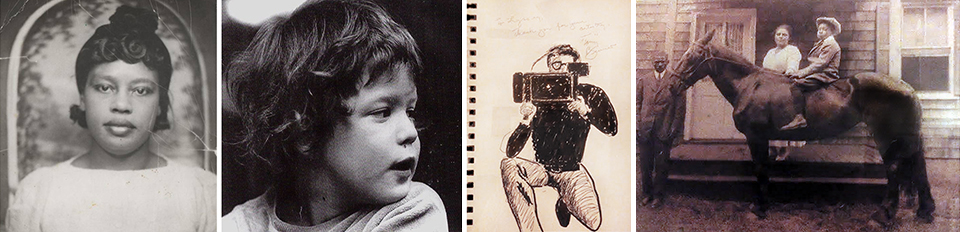 Mary Louise Reynolds; Elia Lyssy as a small boy; a sketch of Elia, the cinematographer by none other than Tony Bennett; a sepia-toned treasure, the family's old New Jersey homestead (a wedding gift from Delissa's Uncle Marvin)