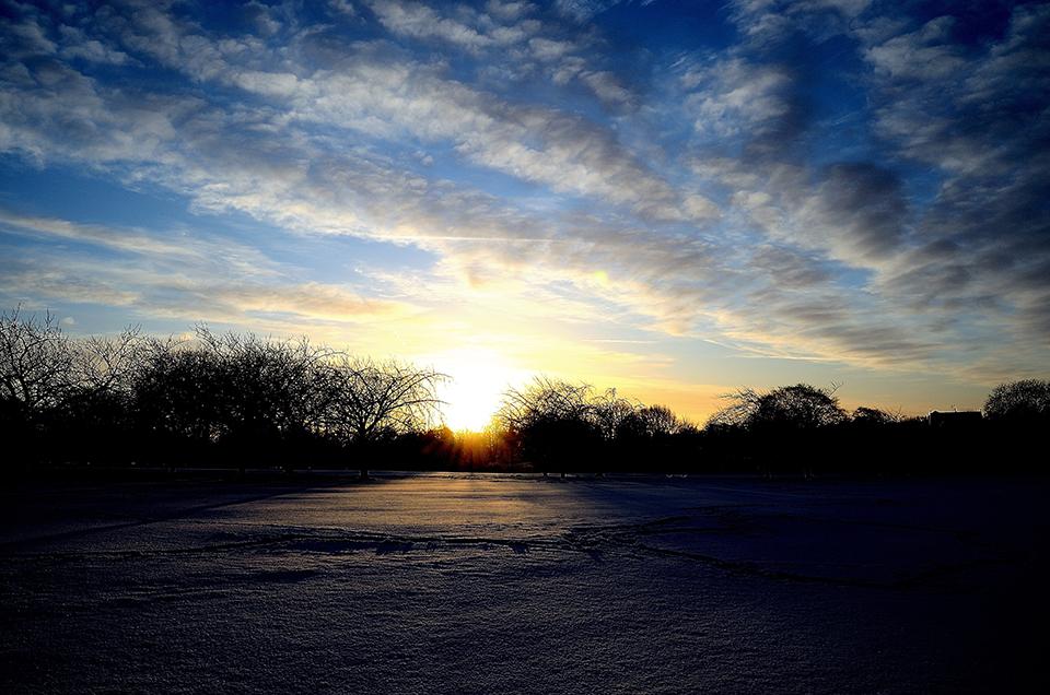 Winter Sunrise  by  George Hodan .