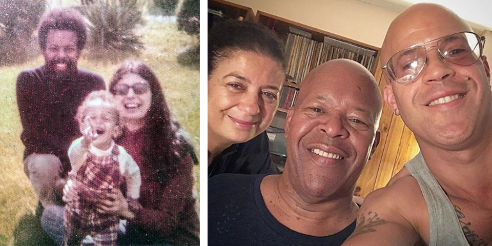 William, Donna and Yureesh. In recent years, father and son share the same smile and smooth pate. Photos courtesy of the Hooker Family.