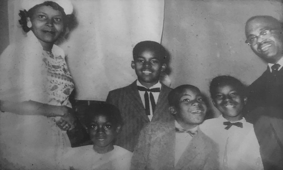 The Reverend and Mrs. Hooker of New Britain with their sons and daughters. Photo courtesy of William Hooker.