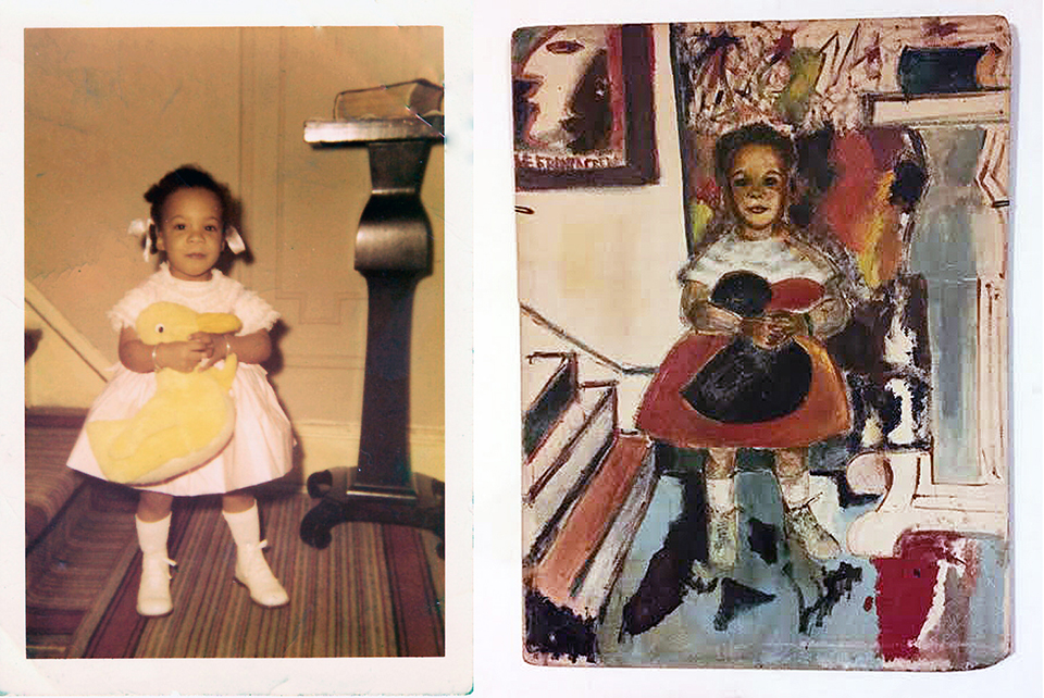 Several framed paintings and drawings by her father adorn the walls of Cassandra's home, including the one above, inspired by her photograph. Photos courtesy of Cassandra Bromfield.