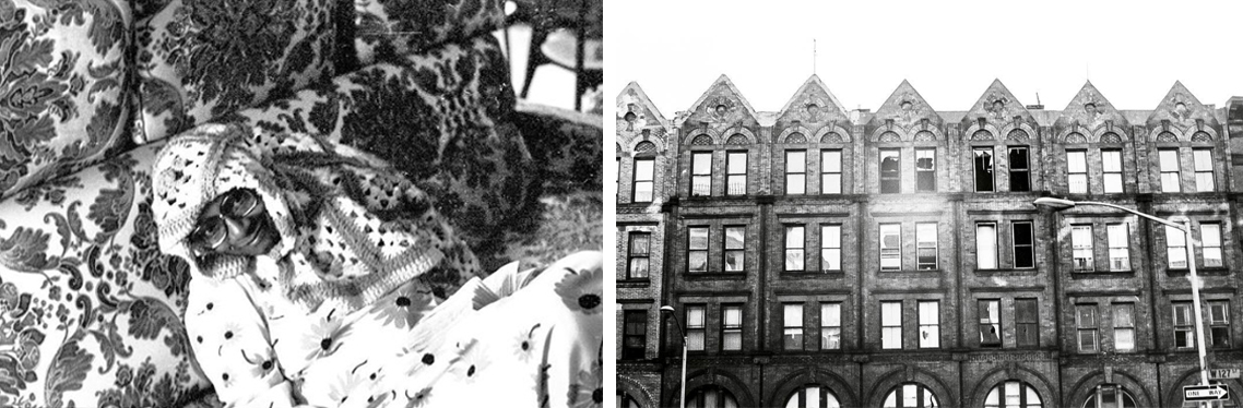 As always, her mother supported her passions, photography among them. From left, M. Elaine Bromfield in a study of pattern and texture; beauty in the blight of West 127th Street. Photos by and courtesy of Cassandra Bromfield.
