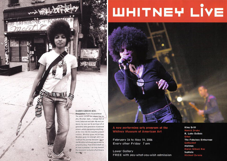 Her fabulous 'fro: in TRACE magazine feature; and on the promotional material for Whitney Live.