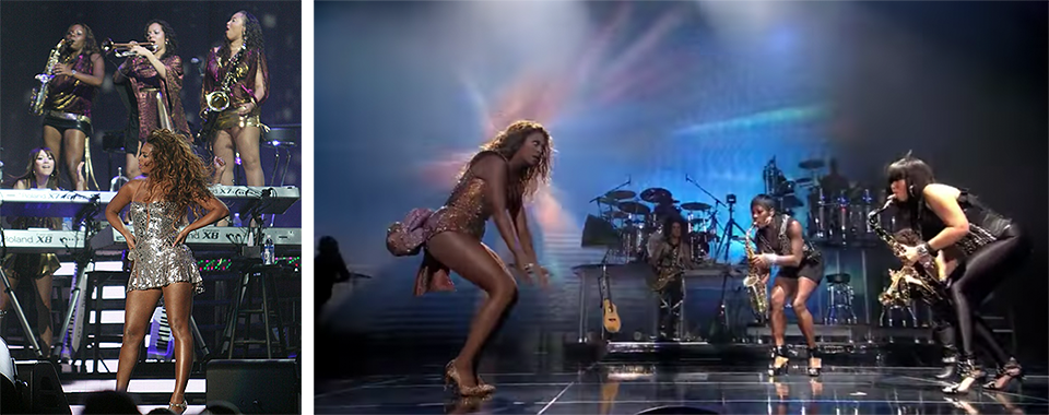 "Beyoncés horn section was fire: ""Got me looking, got me looking so crazy in love."" (See Tia at 5:05  here)"