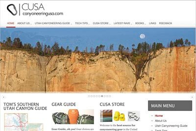 Website design for Canyoneering USA