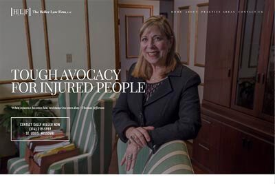 Website for Sally Heller Law of St. Louis, MO