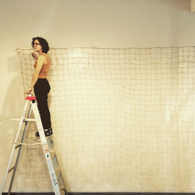 Once finished, the net meausred 10 ft wide by 18ft long