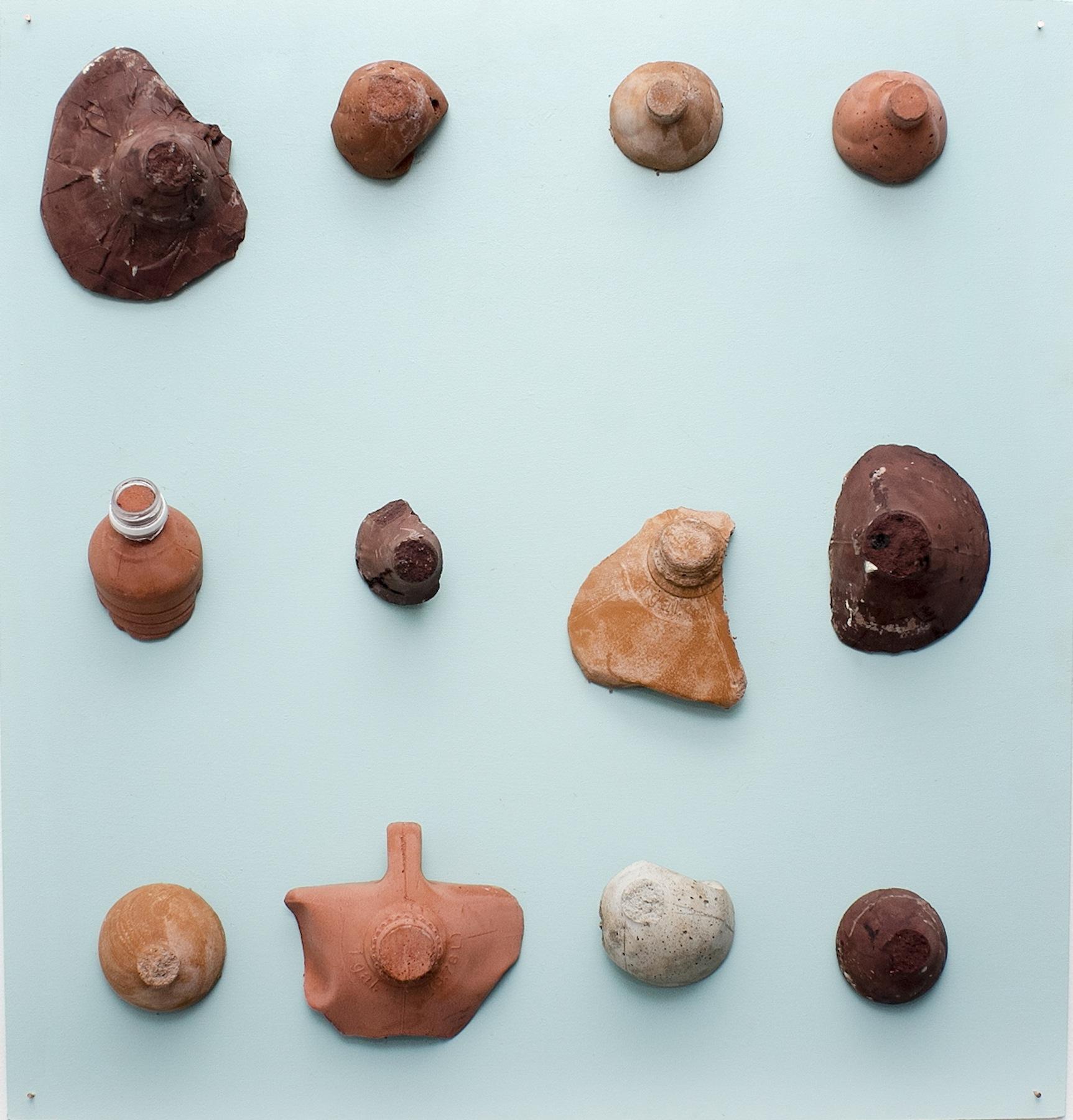 Sarita Westrup. EX VOTOS (BREASTS), 2016. Cement casting. Sizes variable