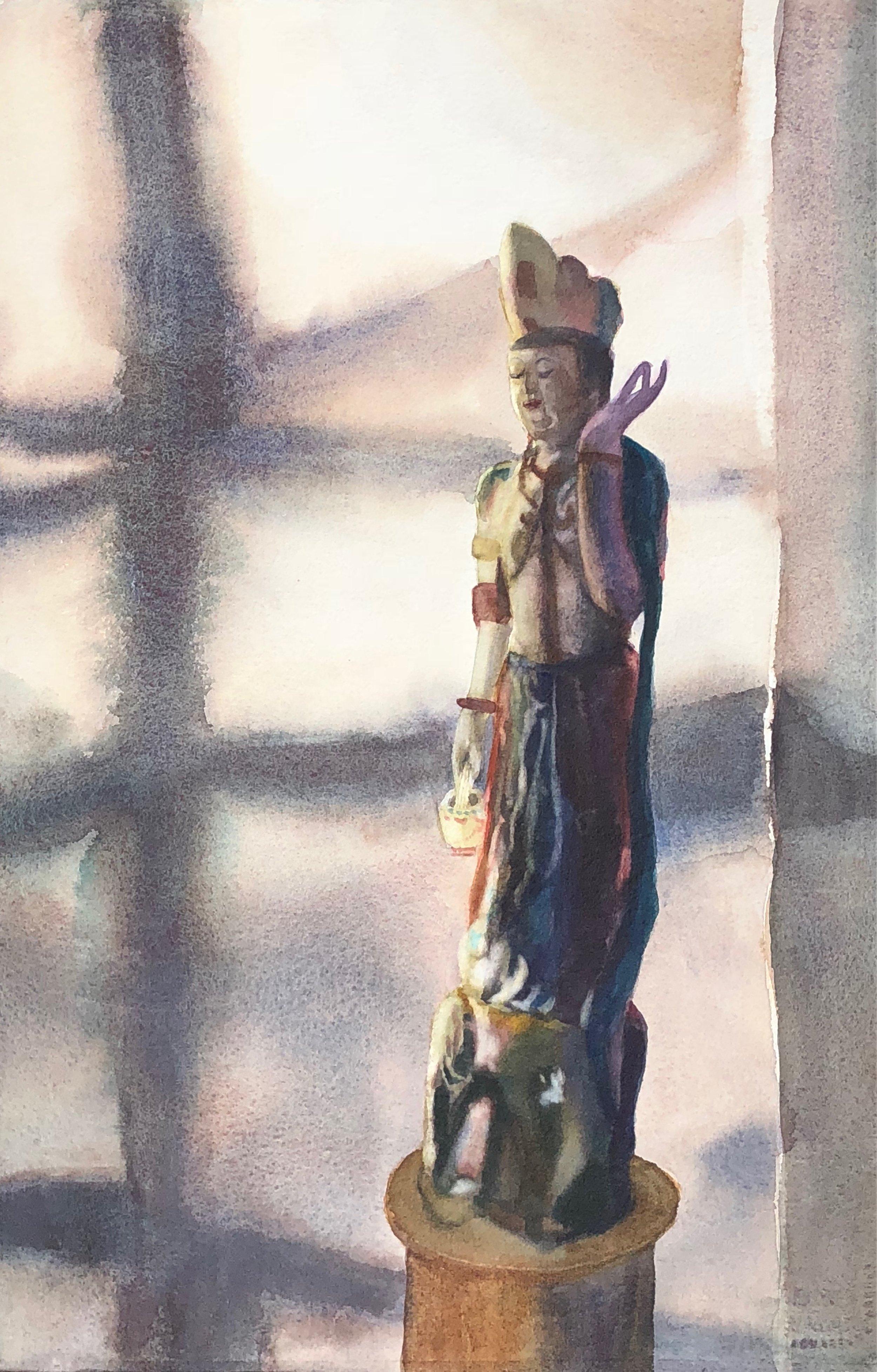 "Quan Yen, Watercolor, 20"" x 33"", $800."