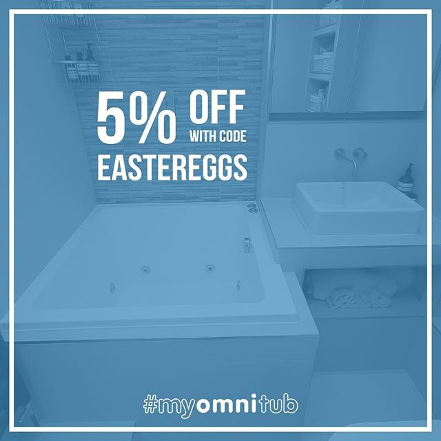 Last chance to get 5% off of your #Omnitub!! Ends 2359 tonight 😀😀