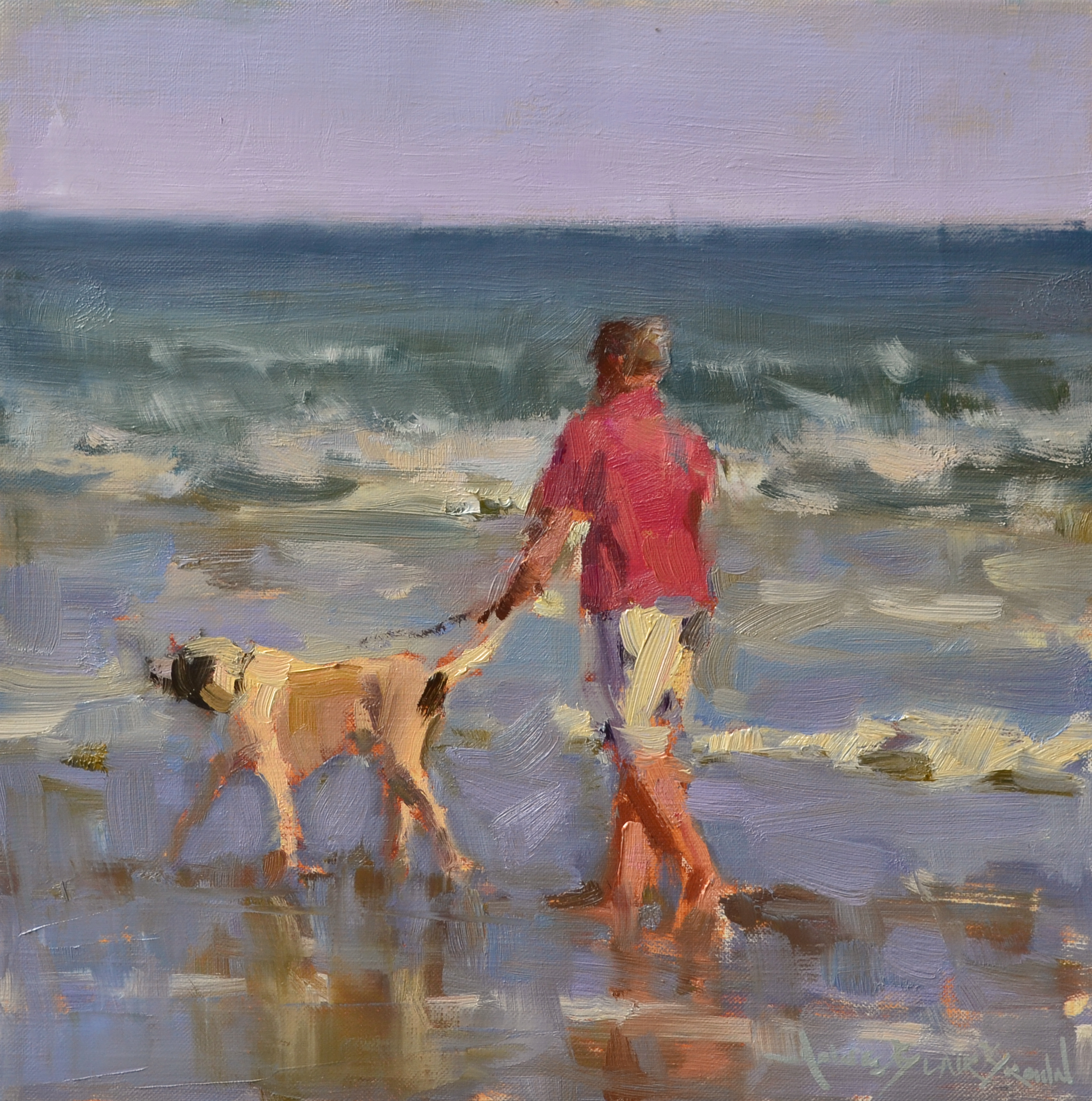 """Lucky Dog"" 12x12 oil on linen"