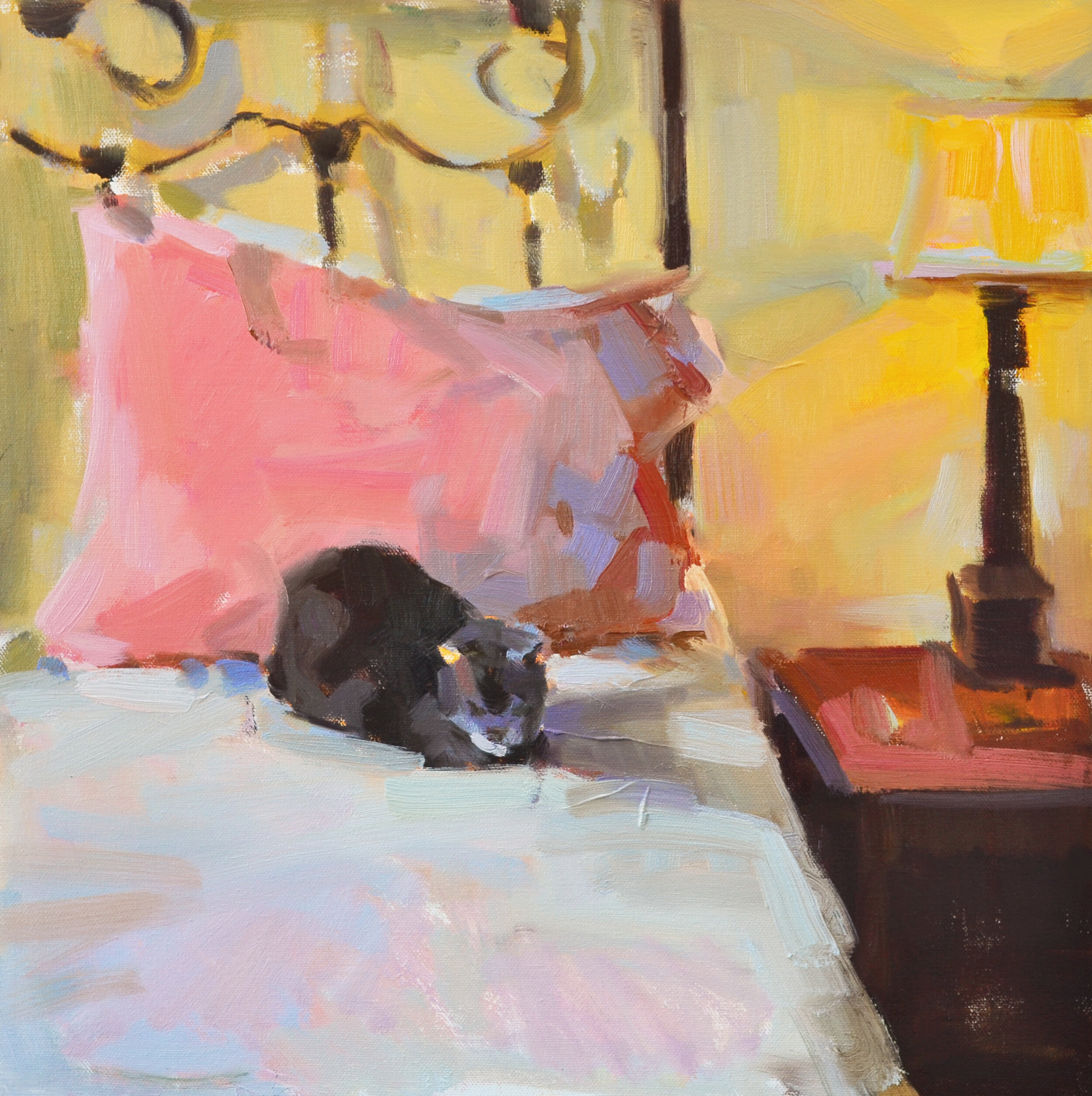 """Cat Nap"" 16x16 oil on linen"