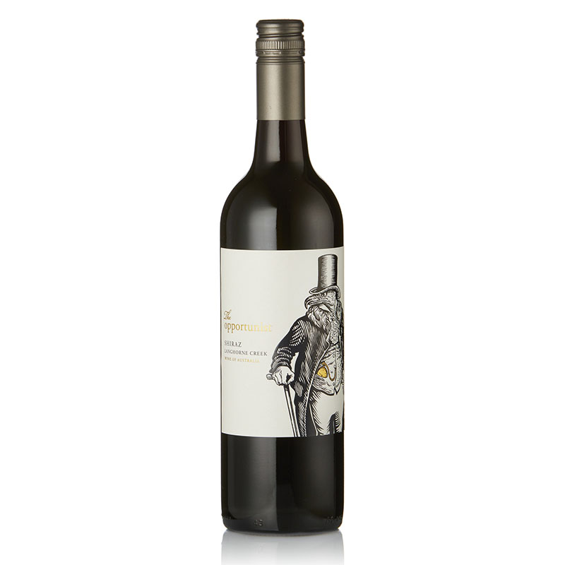 The Opportunist Shiraz - Ripe cherries and blackcurrants, with notes of freshly ground coffee, dark chocolate, peppermint, liquorice and subtle pepper