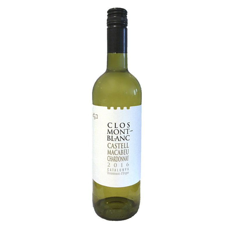 Clos MontBlanc Castell Macabeu Chardonnay - fresh peach and pineapple, clean and bright with a long finish