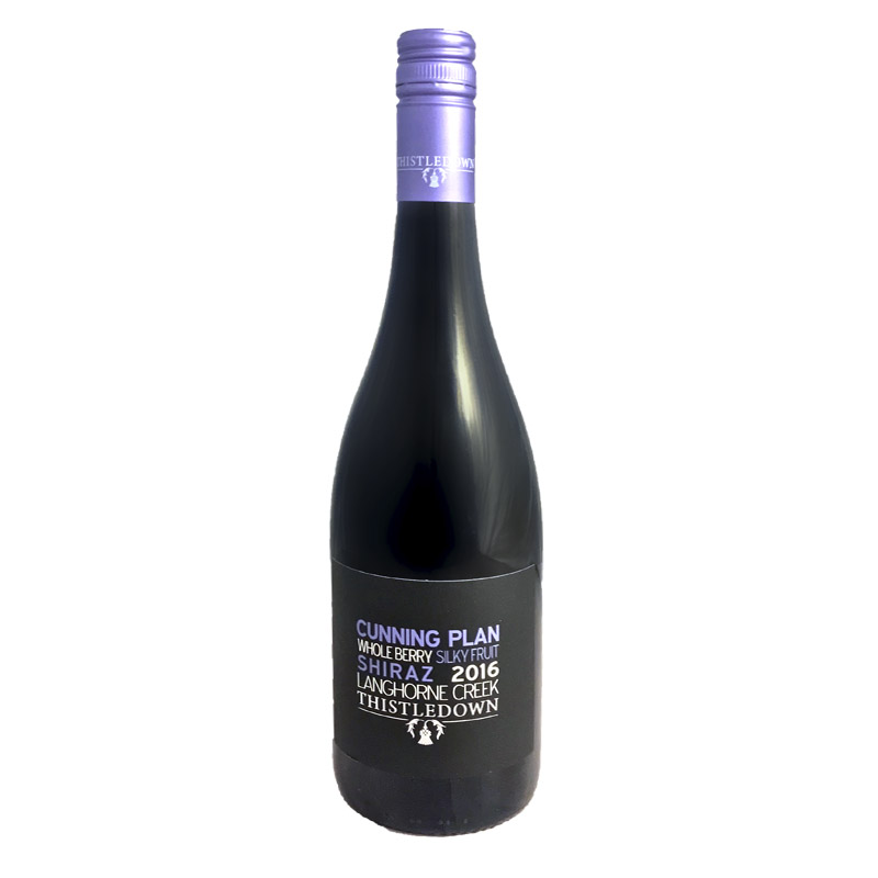 The Cunning Plan Shiraz - Deep crimson, rich plummy fruit with hints of black pepper, mulberry and mocha. Soft, integrated and velvety tannins.
