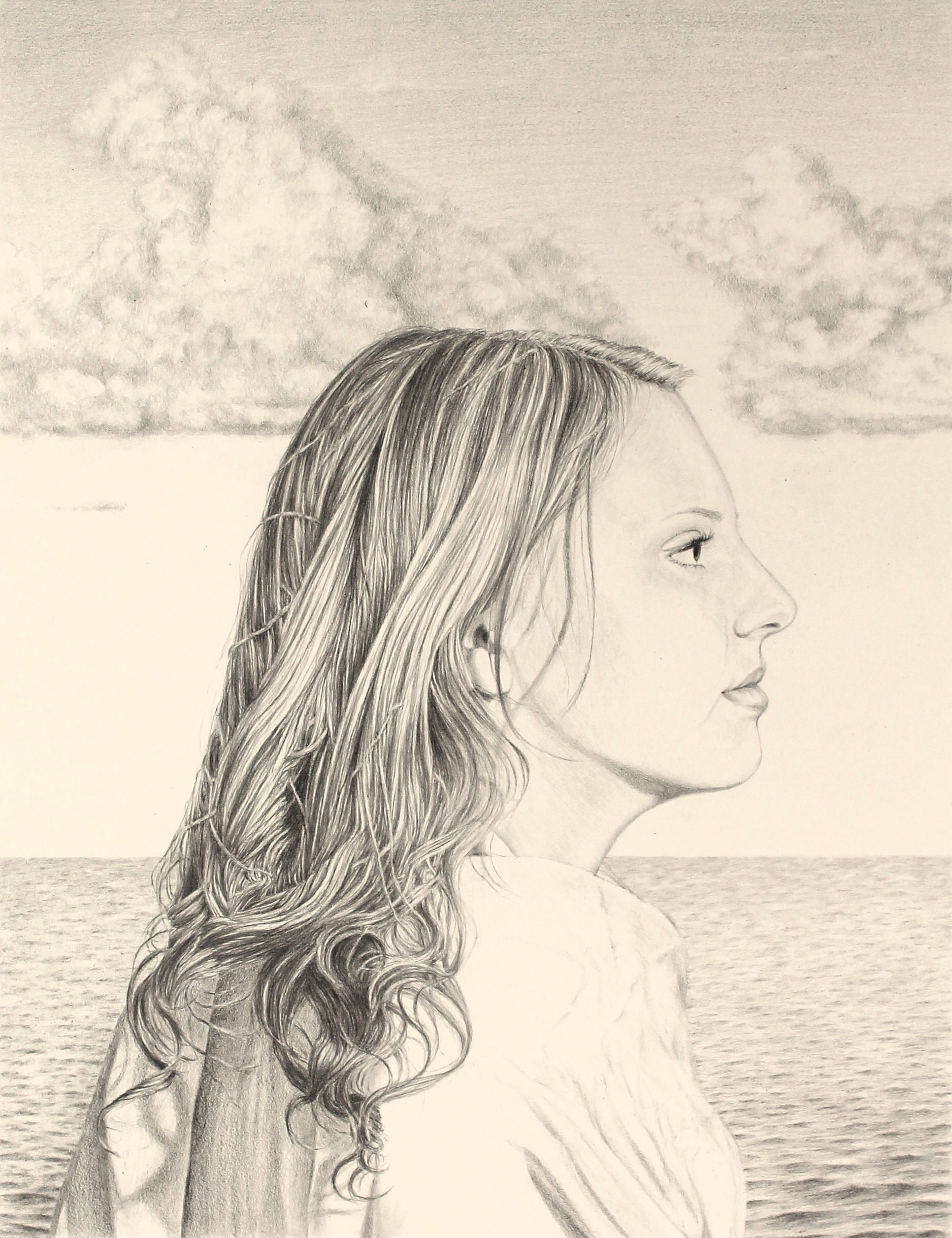 She Could See between the Unsettled Sky and Shifting Sea