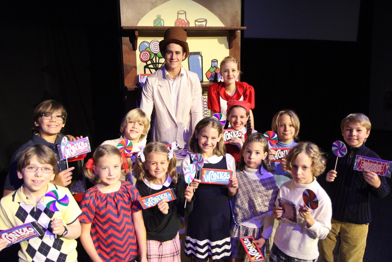 The Candy Man (Levi Snider), the Candy Shop Girl (Gigi Cowherd) and the candy kids!