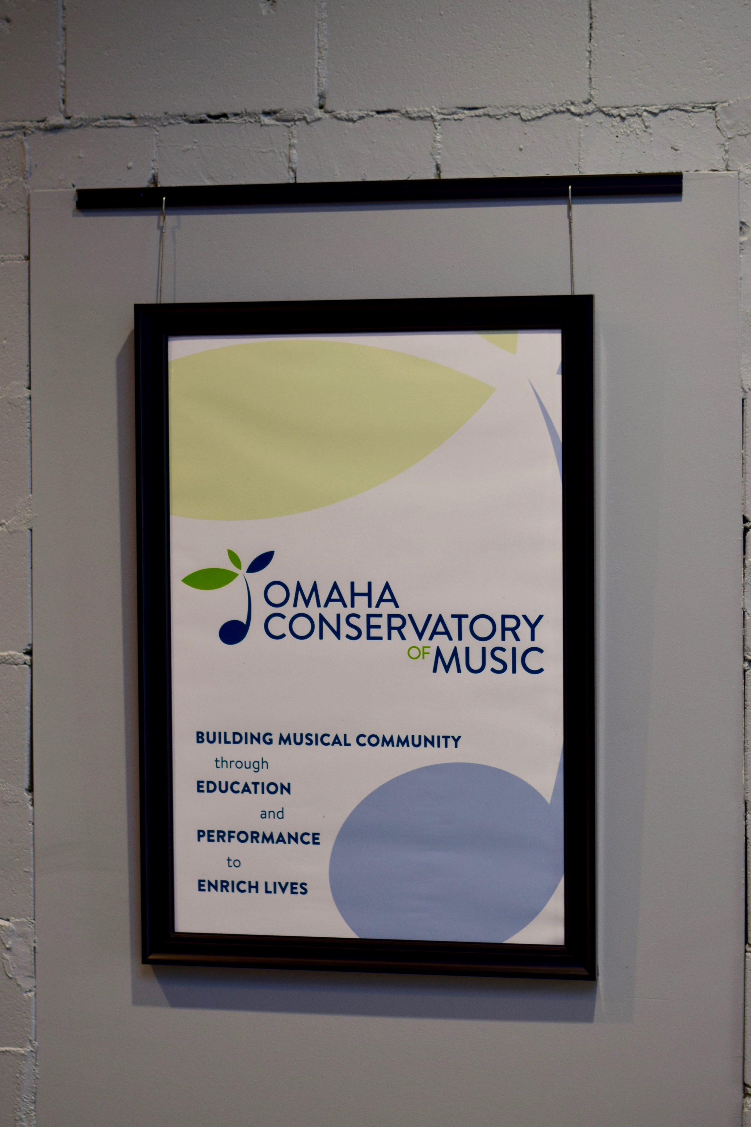 Omaha Conservatory of Music hallway poster
