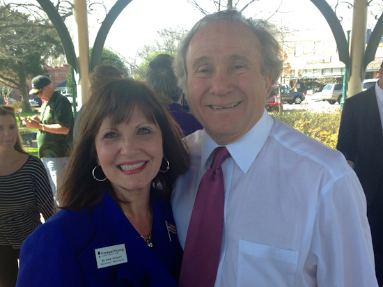 Forever Young Founder, Diane Hight, with President Ronald Reagan's son, Michael Reagan