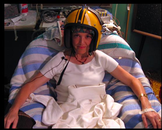 Barb dons God Helmet