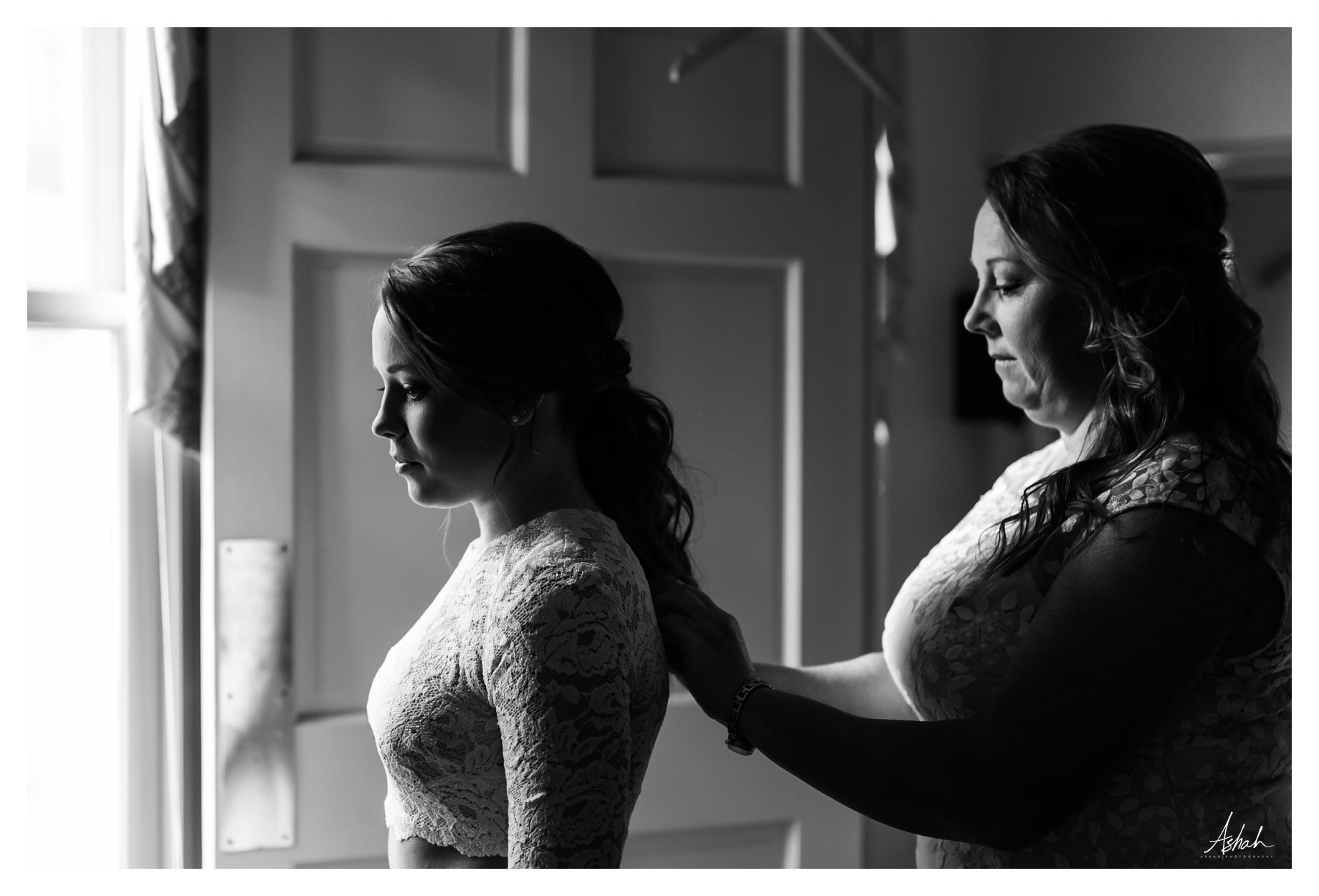 Bride in Profile - Black and White - Dublin Wedding Photography