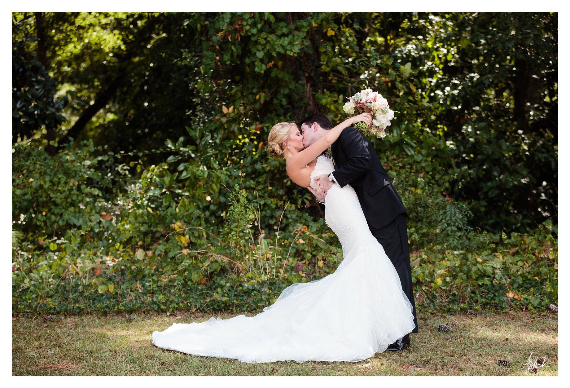 The Kiss - Macon Wedding Photographer
