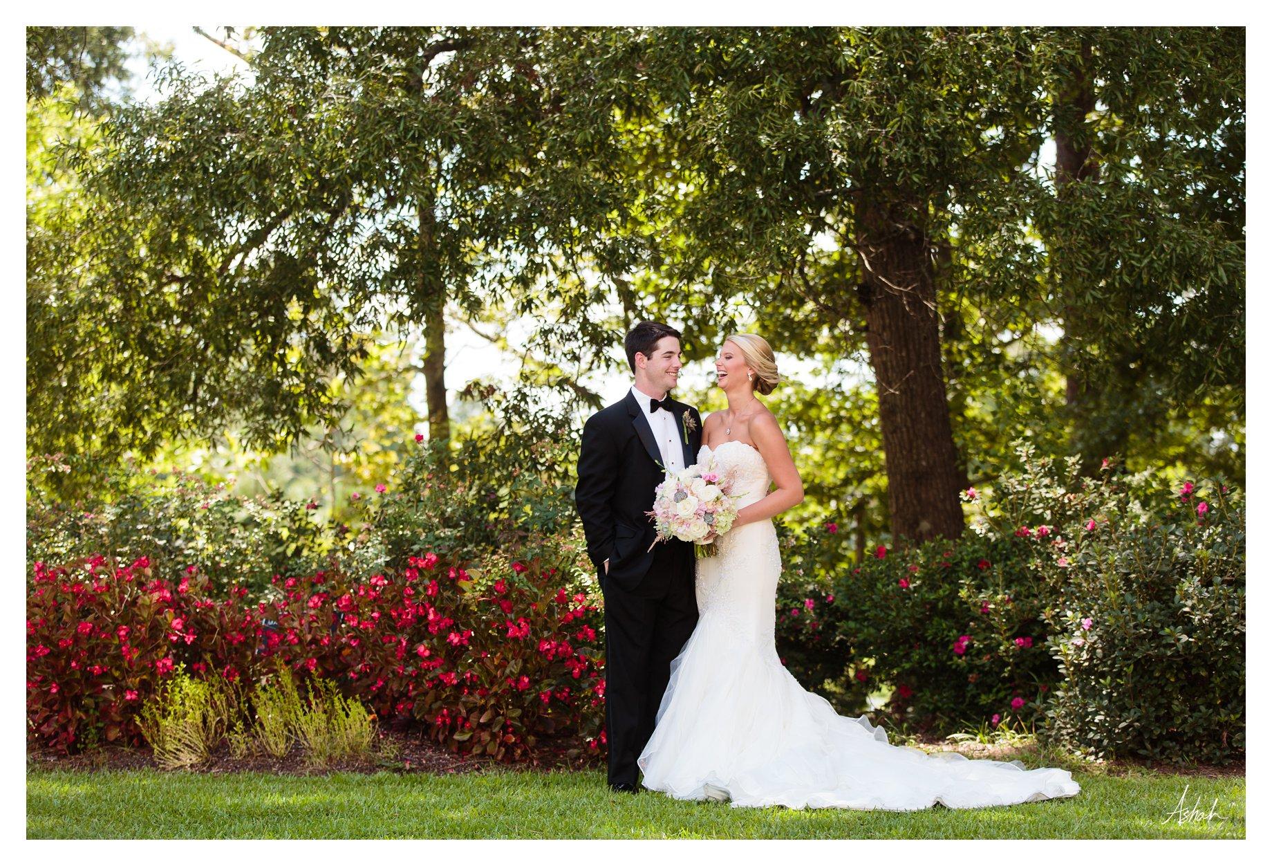Bride & Groom share a laugh -- Macon Wedding Photographer