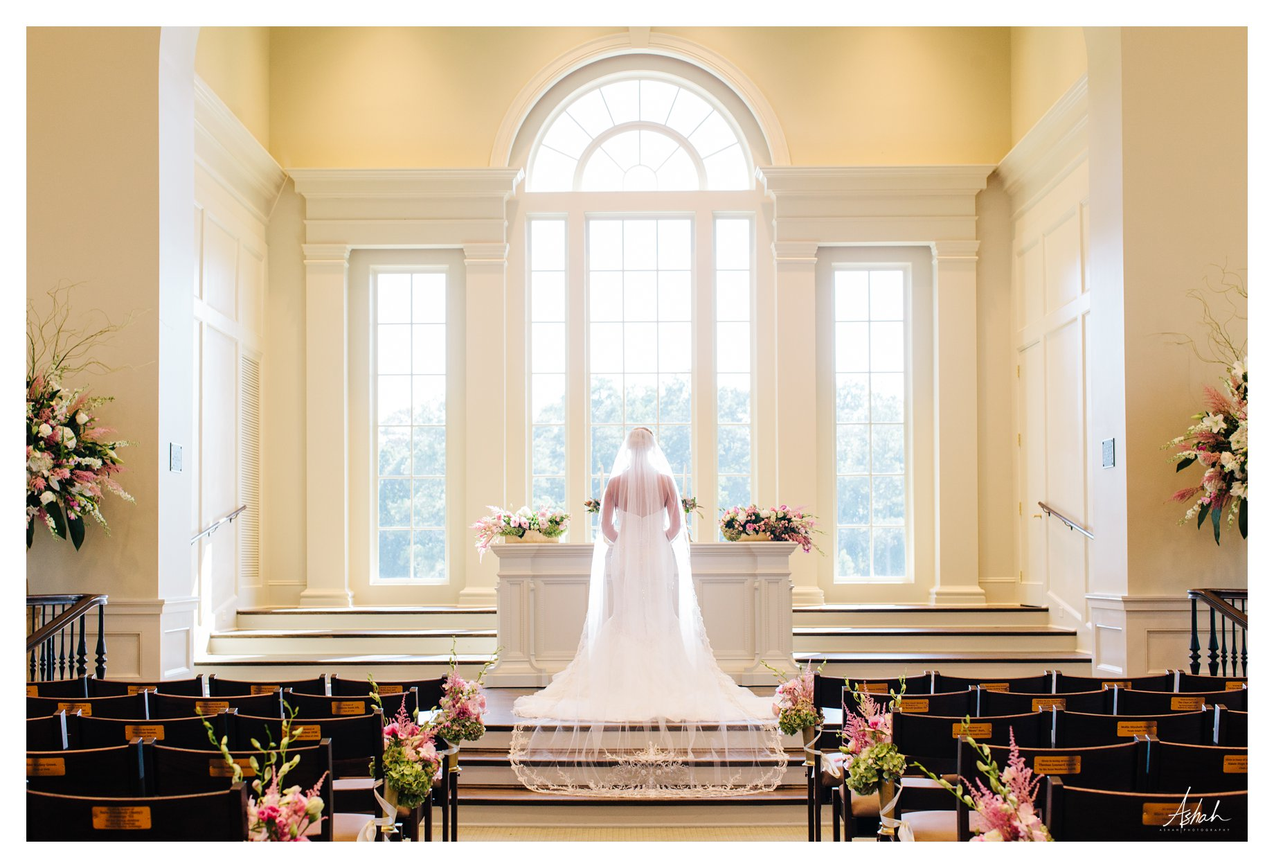 The Bride and Train -- Macon Wedding Photographer